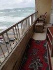 شقة مفروشة للايجار -سيدى بشر -برج طابا ١ -رؤية جانبية البحر