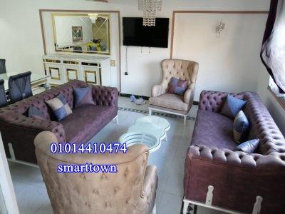 @بمكرم عبيد الرئيسي شقة مفروشة للايجار خلف كافيه #بينوس مدينة نصر