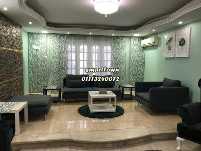بمكرم عبيد شقة مفروشة للايجار 240م #فندقية خلف السلاب شارع راقي مدينة نصر 2نوم