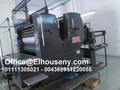 ماكينة طباعة هايدلبرج 2 لون مقاس 102 فرخ