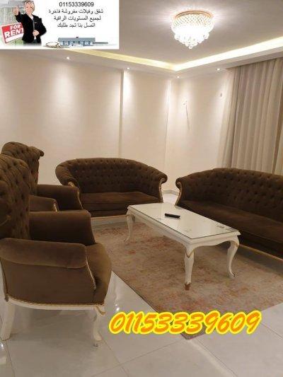 اول سكن شقة مفروشة بشارع راقي من مكرم عبيد مدينة نصر-+