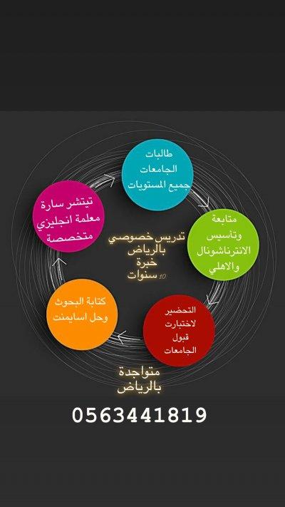دروس خصوصية لتدريس الانترناشونال 0563441819